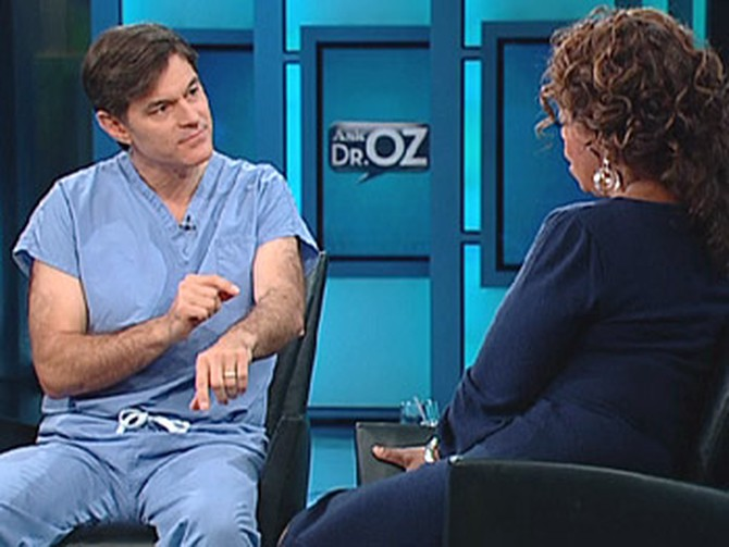 Dr. Oz says body hair can repel mosquitoes.
