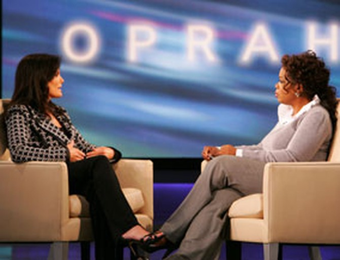 Denise Brown and Oprah