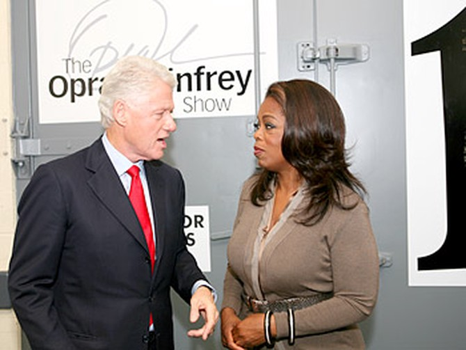 Former President Bill Clinton and Oprah