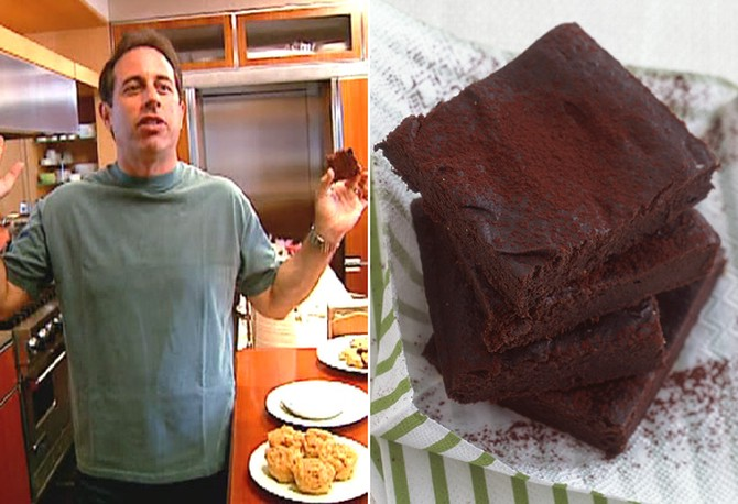 Jerry Seinfeld loves his wife's brownies.