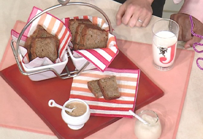 Jessica Seinfeld's banana bread with cauliflower puree and peanut butter