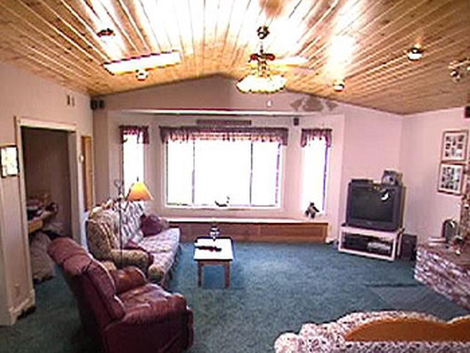Margie and John's country-themed family room