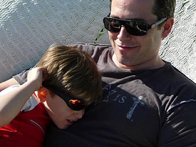 Matthew Broderick with his son, James Wilke