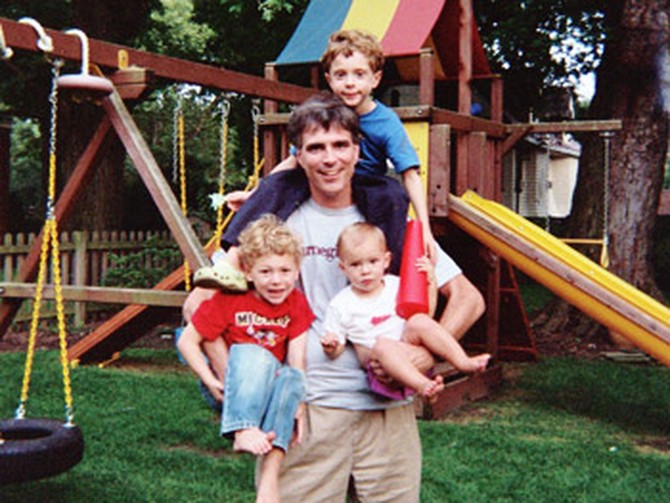 Randy Pausch and his kids
