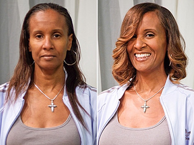 Brigeeta before and after her makeover