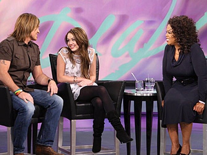 Billy Ray, Miley and Oprah