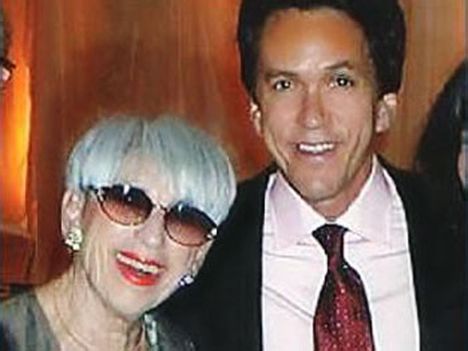 Mitch Albom with his mother