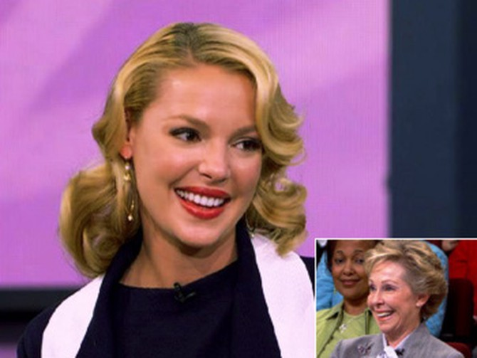 Katherine Heigl and her mother, Nancy