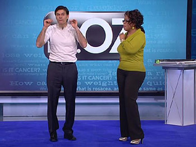 Dr. Oz and Oprah practice meditation.
