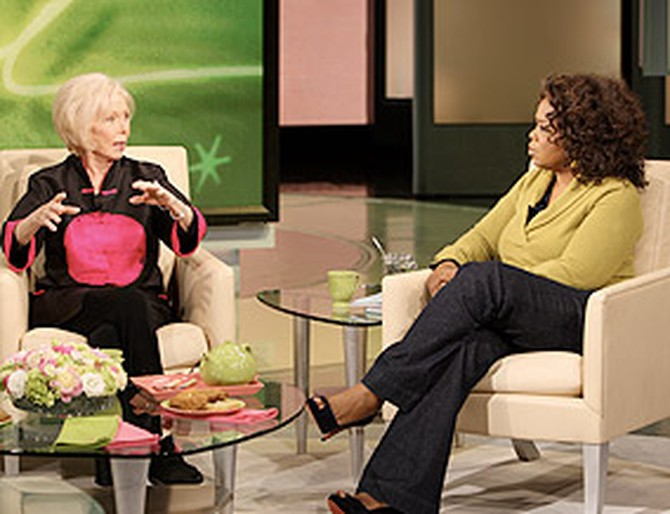 Oprah discusses The Secret with Louise Hay.