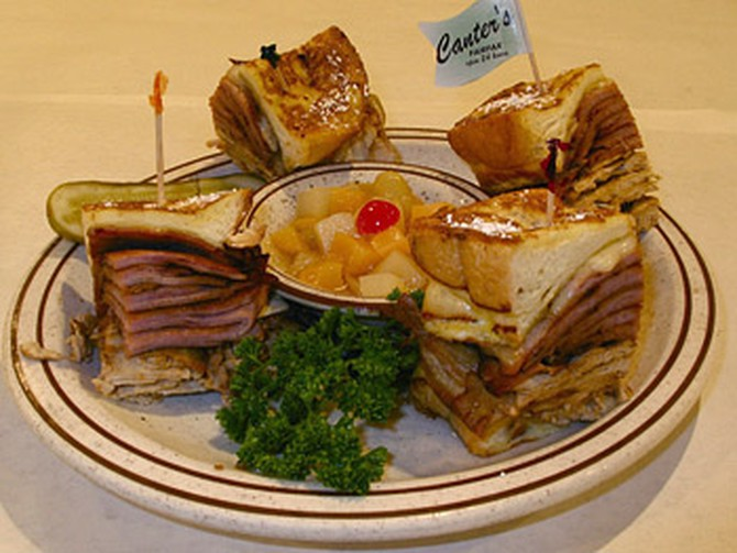 Monte Cristo at Canter's Deli