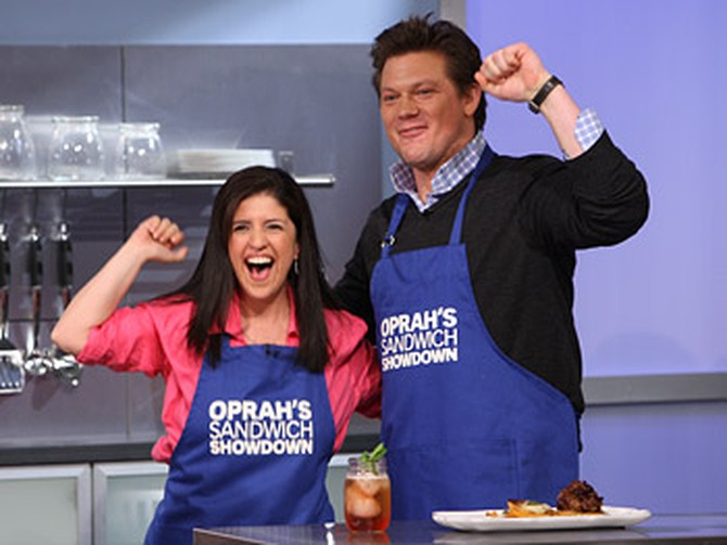 Tyler Florence and Madeline win Oprah's sandwich showdown.