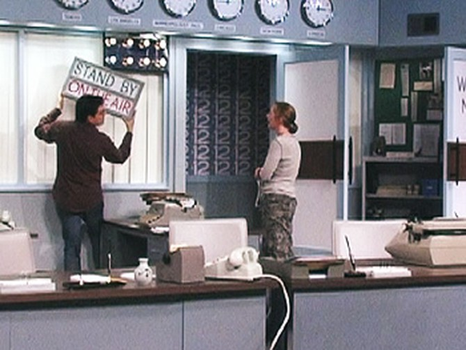 Recreating The Mary Tyler Moore Show's newsroom set