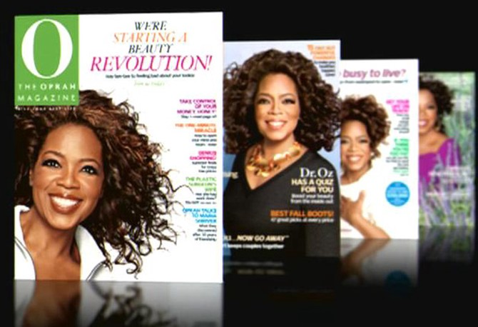 Oprah on the cover of O, The Oprah Magazine