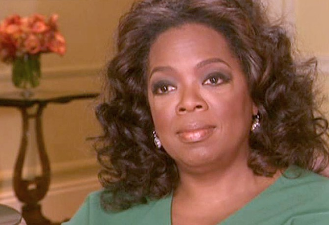Oprah discusses her thyroid issues.