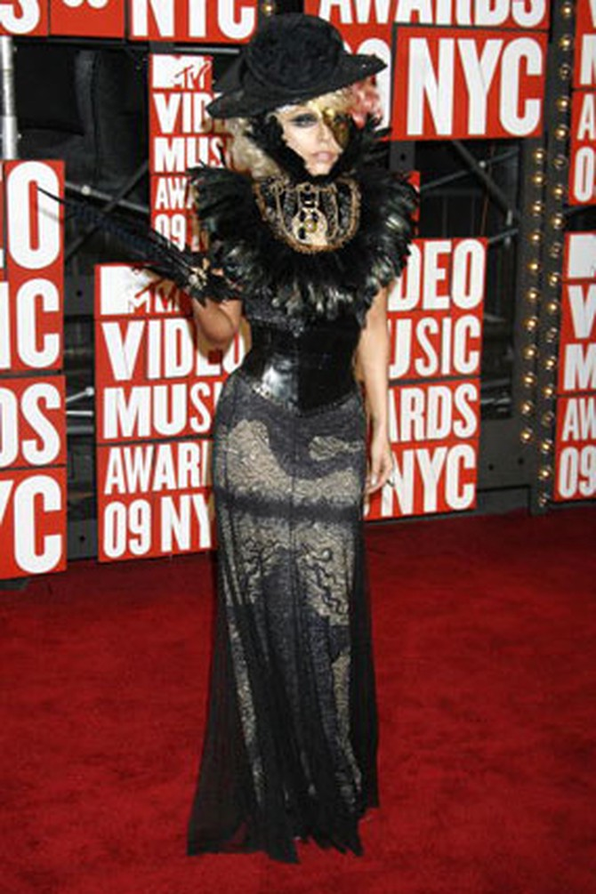 Lady Gaga on the MTV red carpet