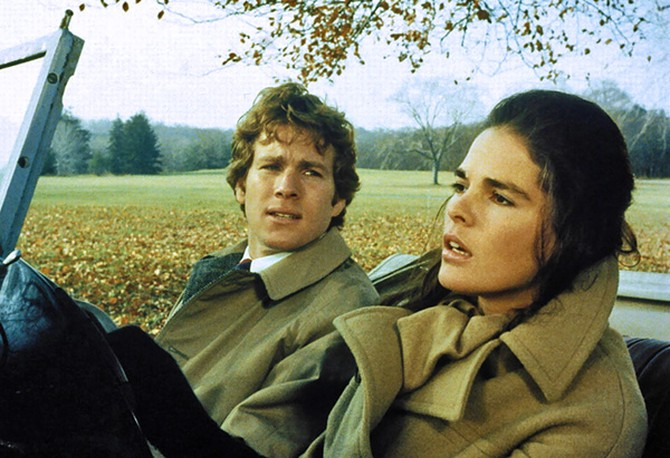 Ali MacGraw in a camel coat in Love Story