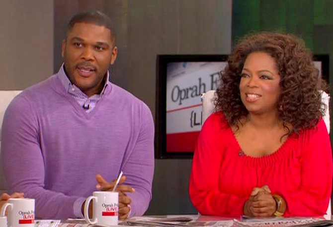 Tyler Perry on The Oprah Show in 2009