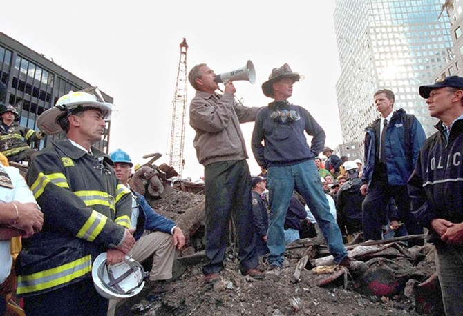 George Bush at Ground Zero