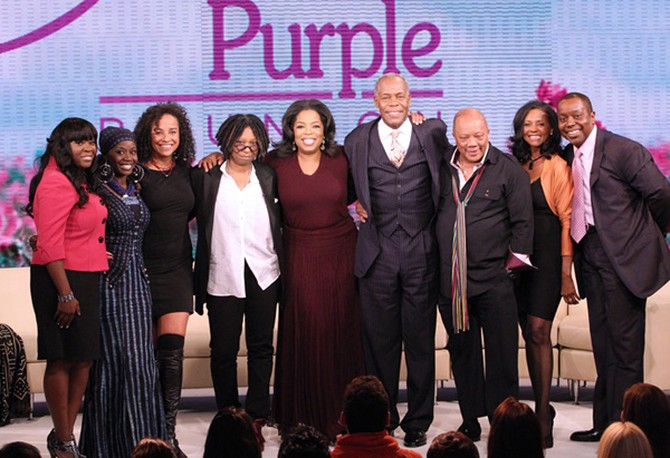 Oprah and the cast of The Color Purple
