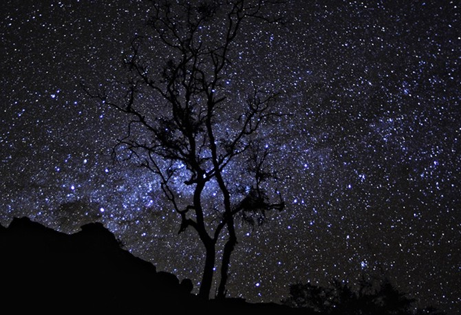 The night sky over Arnhem Land Plateau