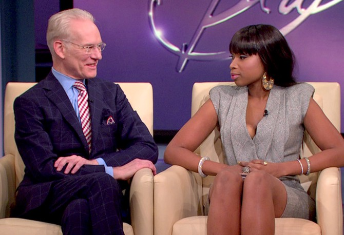 Jennifer Hudson and Tim Gunn