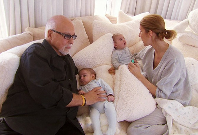 Celine Dion, husband Rene and twins Eddy and Nelson