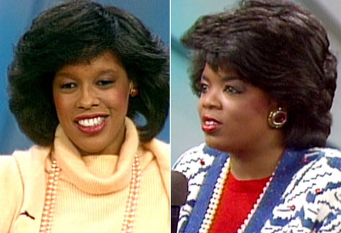 Gayle and Oprah in 1986