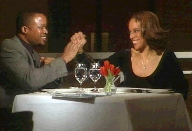 Gayle on a blind date in 2002