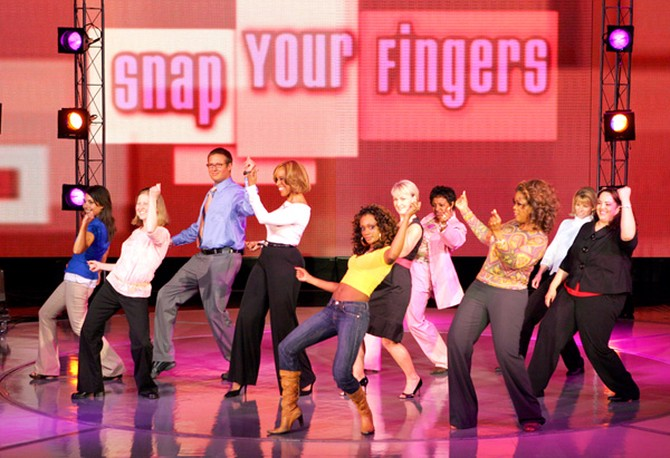 Oprah and Gayle learn new dance moves in 2008