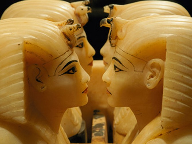 Alabaster chests from King Tut's tomb