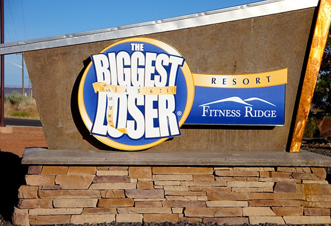 Biggest Loser Resort sign