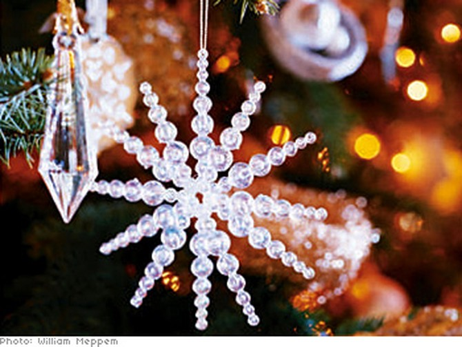 Glimmering jewels for the tree