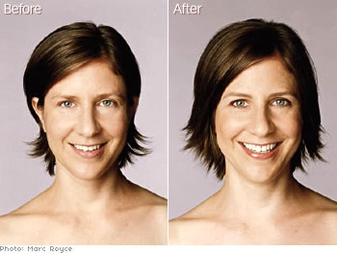 O Magazine's photo director gets an eyebrow makeover.