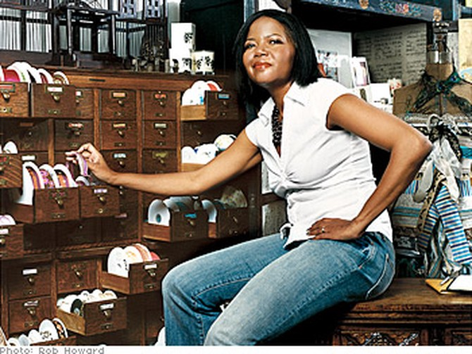 Chandra Greer in her Chicago store, Greer